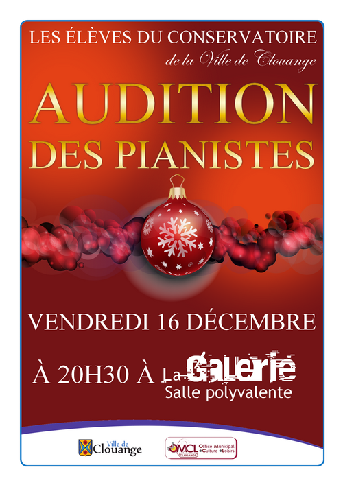 Audition des pianistes
